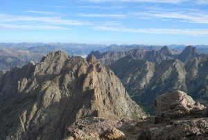 View from the mountain's summit