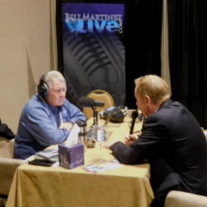 Stephen Arterburn engages in an interview with Bill Martinez